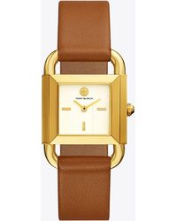 Tory Burch - Phipps Watch, LUGGAGE Leather/gold-tone, 29 X 41 Mm - Lyst