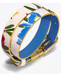Tory Burch - Double-wrap Reversible Printed Bracelet - Lyst