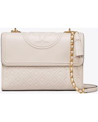 2a41ae17b32 Tory Burch - Fleming Convertible Leather Shoulder Bag - Lyst