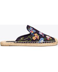 Tory Burch - Max Embroidered Espadrille Slide - Lyst