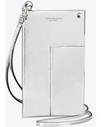 Tory Burch | Block-t Metallic Phone Lanyard | Lyst