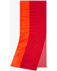 Tory Burch - Color-block Traveler Oblong Scarf - Lyst