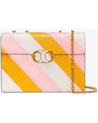 Tory Burch - Gemini Link Snake Large Chain Shoulder Bag - Lyst