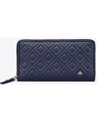 Tory Burch - Fleming Zip Continental Wallet - Lyst