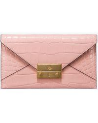 Tory Burch - Juliette Embossed Envelope Wallet - Lyst