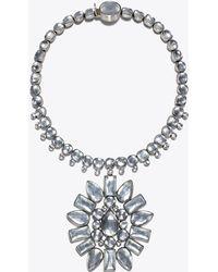Tory Burch - Crystal Sunburst Pendant Necklace - Lyst