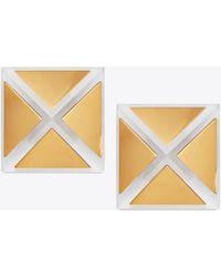Tory Burch - Geo Pyramid Stud Earring - Lyst