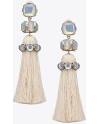 Tory Burch - Epoxy Moonstone Tassel Earring - Lyst