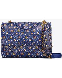 Tory Burch - Fleming Printed Small Convertible Shoulder Bag - Lyst