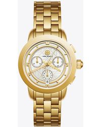 Tory Burch - Tory Watch, Gold-tone/ivory Chronograph, 37 Mm - Lyst
