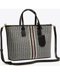 Tory Burch - Small Gemini Link Coated Canvas Tote - Lyst