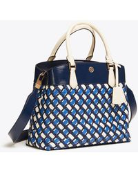 Tory Burch - Robinson Woven Triple Compartment Tote - Lyst