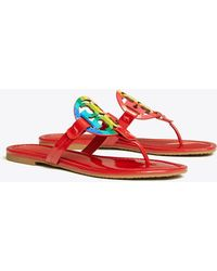Tory Burch Miller Sandals, Printed Patent Leather