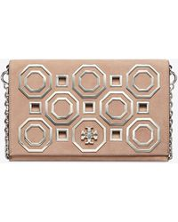 Tory Burch - Kira Metal Octagon Clutch - Lyst