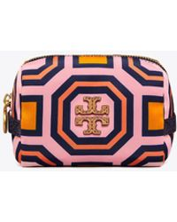 Tory Burch - Printed Nylon Small Cosmetic Case - Lyst