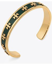 Tory Burch - Enamelled Raised-logo Cuff - Lyst