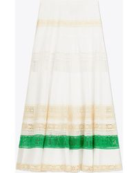 Tory Burch - Lace Trim Skirt | 100 | Full Skirts - Lyst