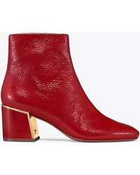 Tory Burch - 65mm Juliana Naplack Ankle Boots - Lyst