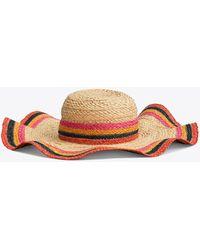 Tory Burch - Striped Straw Hat - Lyst