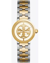 Tory Burch - Reva Two-tone Three-hand Bracelet Watch - Lyst