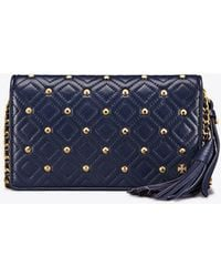 Tory Burch - Fleming Stud Flat Wallet Cross-body - Lyst