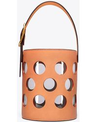 Tory Burch - Perforated Bucket Bag - Lyst