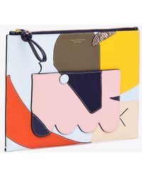 Tory Burch - Inside-the-box Top-zip Pouch - Lyst