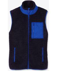 Tory Sport - Tory Burch Sherpa Fleece Vest - Lyst