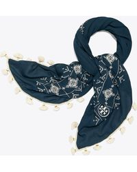 Tory Burch - Tapestry Geo Square Scarf - Lyst