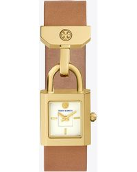 Tory Burch - Surrey Leather Luggage/gold - Lyst