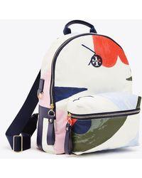 Tory Burch - Tilda Printed Zip Backpack | 116 | Backpacks - Lyst