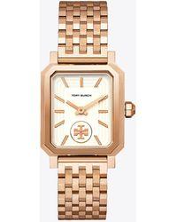Tory Burch - Robinson Watch, Rose Gold-tone/cream, 27 X 29 Mm - Lyst