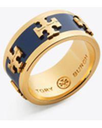 Tory Burch - Enameled Logo Ring - Lyst