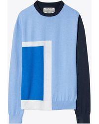 Tory Burch - Performance Cashmere Graphic-block Sweater - Lyst