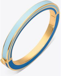 Tory Burch - Multi-enamel Hinged Bracelet | 460 | Bracelets - Lyst
