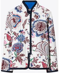 Tory Burch - Happy Times Quilted Reversible Jacket - Lyst