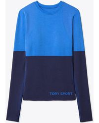 Tory Sport - Two-tone Seamless Long-sleeve Top | 499 | Sport Performance Tops - Lyst