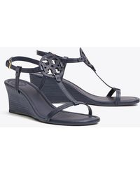 Tory Burch Miller Sandal Wedges, Tumbled Leather