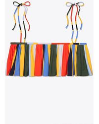 Tory Burch | Balloon Stripe Flounce Top | Lyst