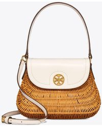 Tory Burch - Lacquered Rattan Basket - Lyst