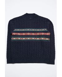 Beams Plus - Fairisle Cable High Neck - Lyst