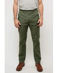 Orslow - Slim Fit Fatigue Pants Olive - Lyst