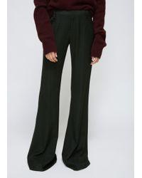 Ms Min - Dark Green Flared Trouser - Lyst