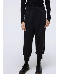 MM6 by Maison Martin Margiela - Cropped Sweatpant - Lyst