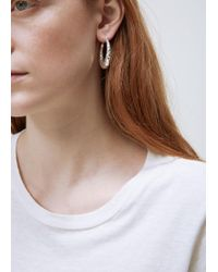 All_blues - Silver Fat Snake Earrings - Lyst