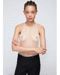 Ann Demeulemeester - Racerback Soft Tulle Bodysuit - Lyst