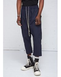 DRKSHDW by Rick Owens - Drawstring Cropped Pant - Lyst