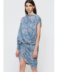 Junya Watanabe - Paisley Printed Pleated Dress - Lyst