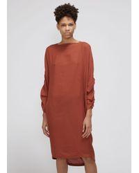 Black Crane - Elastic Detail Dress - Lyst