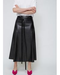 Viden - Faux Leather Skirt - Lyst